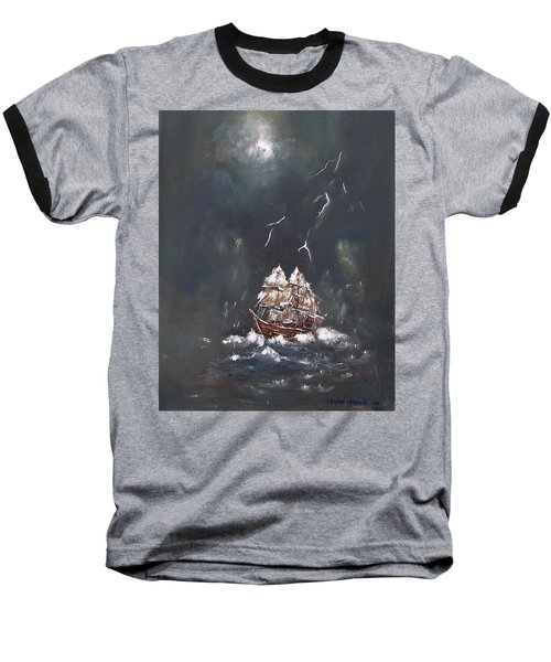 Black Storm Baseball T-Shirt