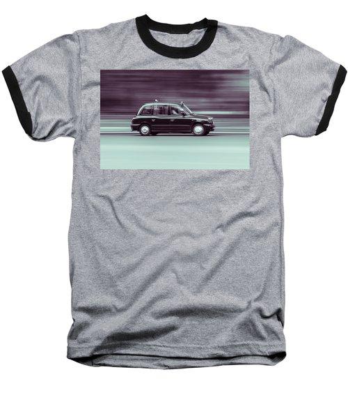 Black Taxi Bw Blur Baseball T-Shirt