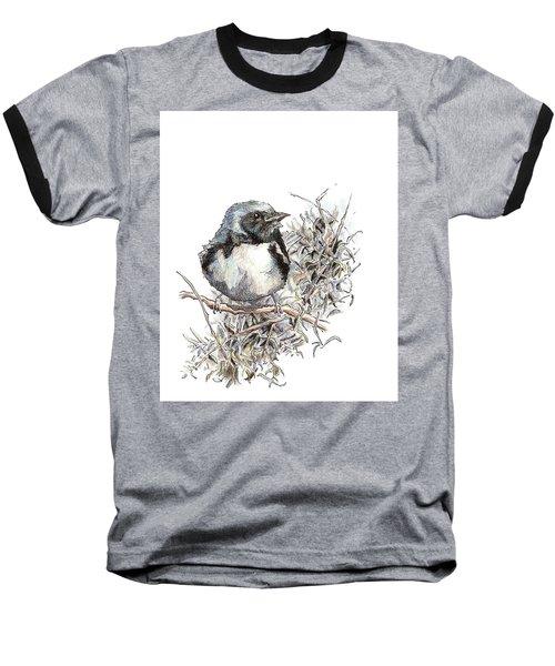 Black-throated Blue Warbler Baseball T-Shirt