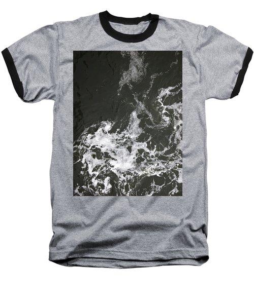 Black Water Marble  Baseball T-Shirt