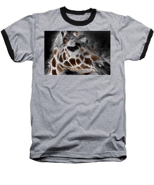 Black  White And Color Giraffe Baseball T-Shirt
