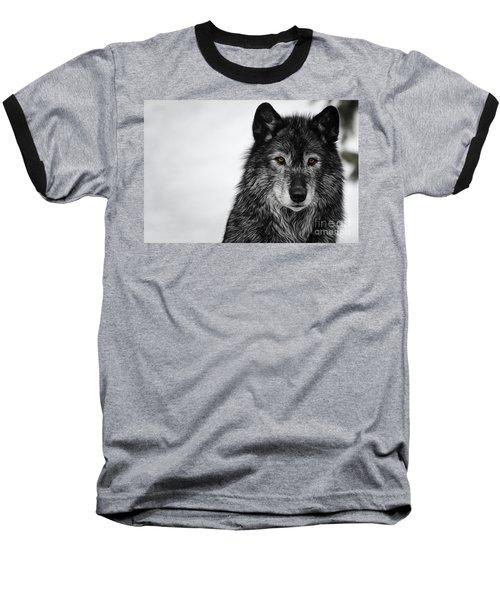 Black Wolf I Baseball T-Shirt