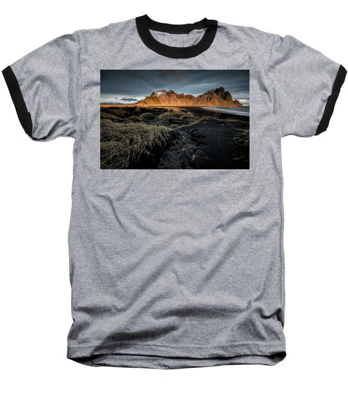 Blackbeach And Vestrahorn Baseball T-Shirt by Allen Biedrzycki