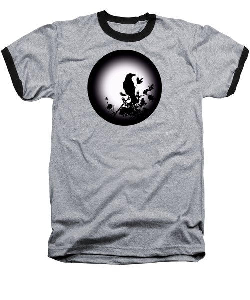 Blackbird In Silhouette  Baseball T-Shirt