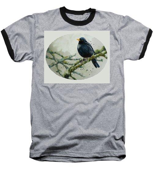 Blackbird Painting Baseball T-Shirt