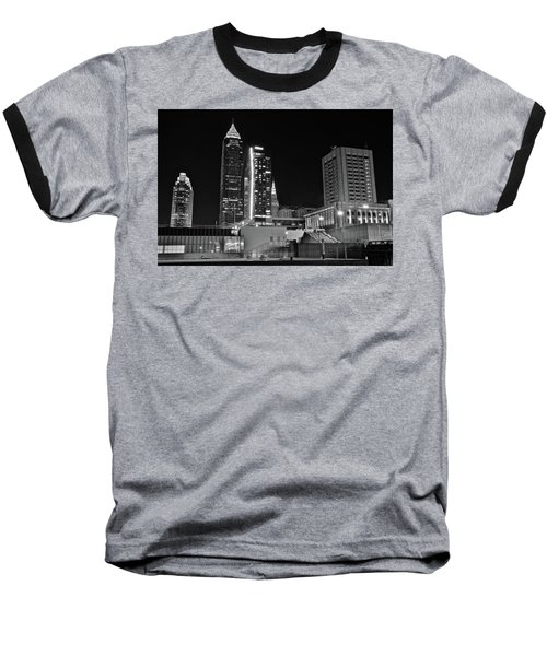 Baseball T-Shirt featuring the photograph Blackest Night In Cle by Frozen in Time Fine Art Photography