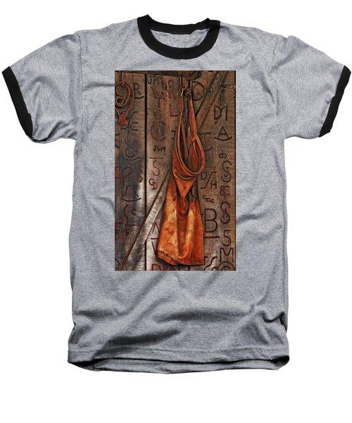 Blacksmith Apron Baseball T-Shirt by Rowana Ray