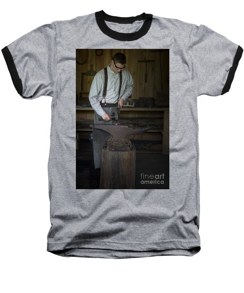 Baseball T-Shirt featuring the photograph Blacksmith At Work by Liane Wright