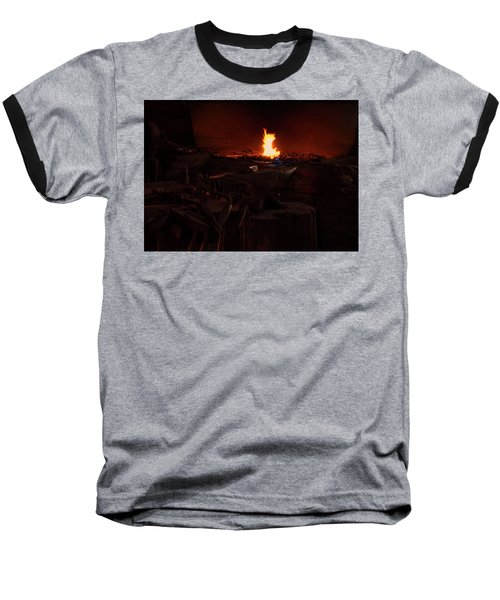 Baseball T-Shirt featuring the digital art Blacksmith Shop by Chris Flees