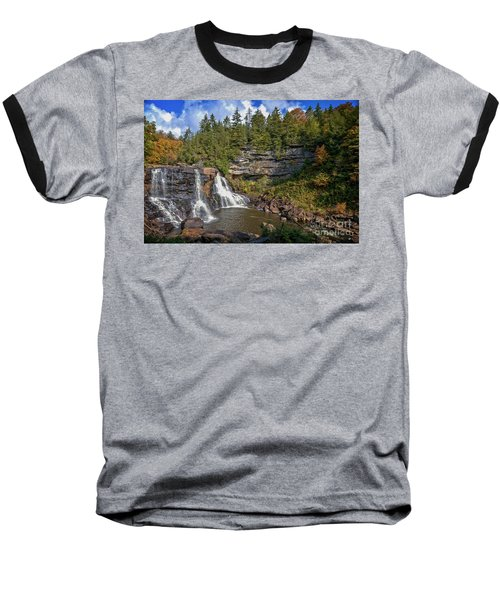 Blackwater Falls  In Autumn 3879c Baseball T-Shirt