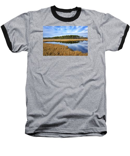 Baseball T-Shirt featuring the photograph Blackwater National Wildlife Refuge In Maryland by Brendan Reals
