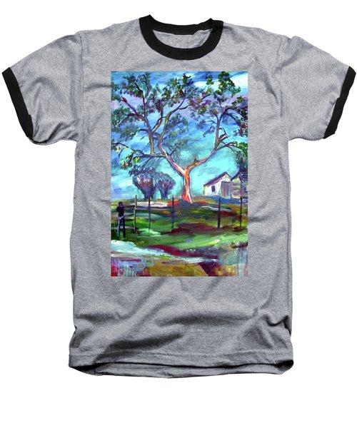 Blanco Texas Ranch House Baseball T-Shirt