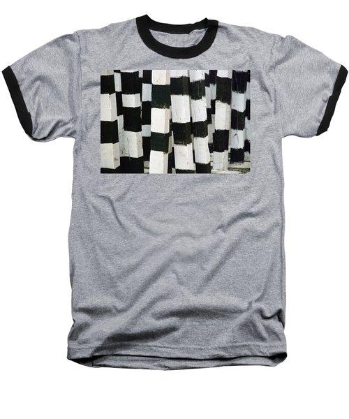 Blanco Y Negro Baseball T-Shirt