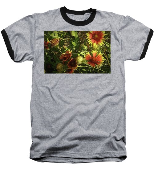Baseball T-Shirt featuring the photograph Blanket Flower by Donna G Smith