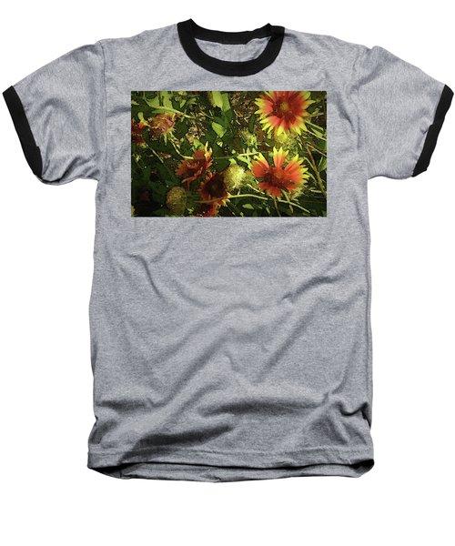 Blanket Flower Baseball T-Shirt