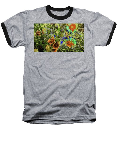 Baseball T-Shirt featuring the photograph Blanket Flower II by Donna G Smith