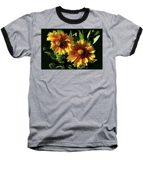 Blanket Flowers - Gaillardia Baseball T-Shirt