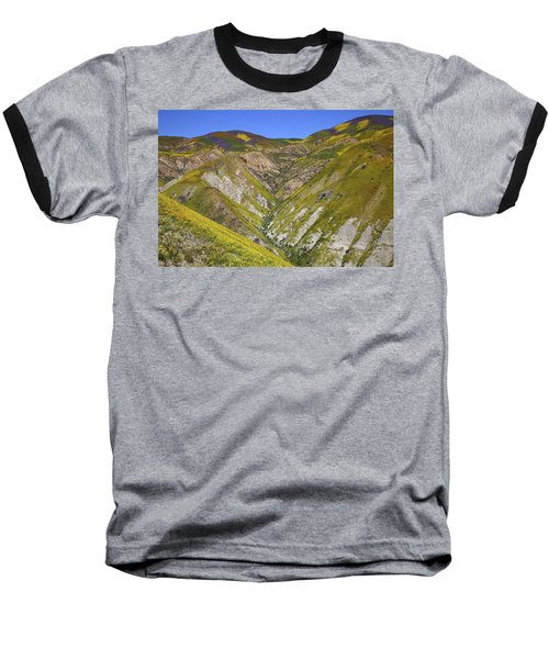 Blanket Of Wildflowers Cover The Temblor Range At Carrizo Plain National Monument Baseball T-Shirt by Jetson Nguyen