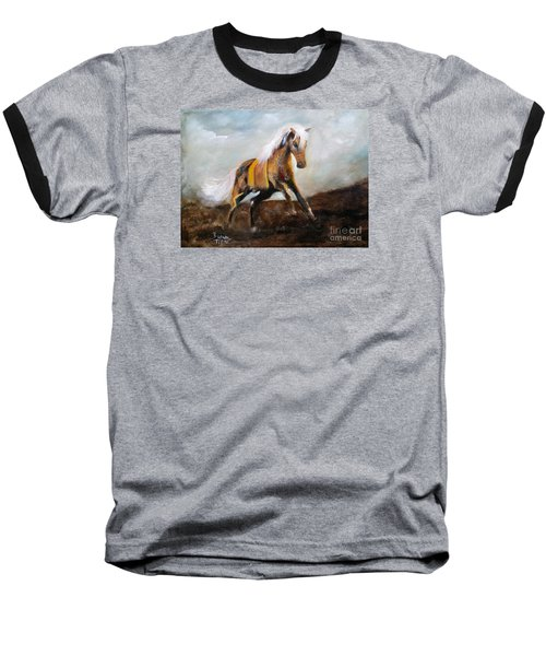 Blanket The War Pony Baseball T-Shirt by Barbie Batson