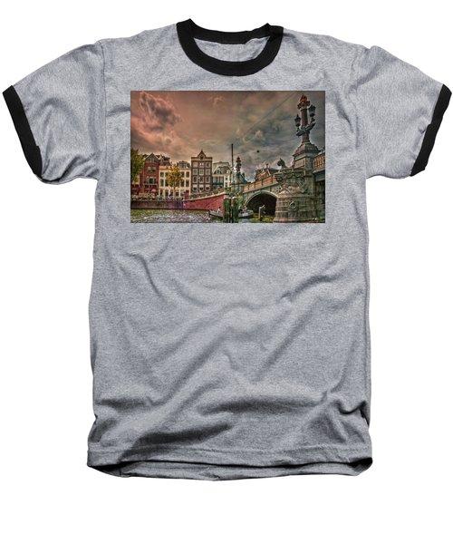 Baseball T-Shirt featuring the photograph Blauwbrug -blue Bridge- by Hanny Heim