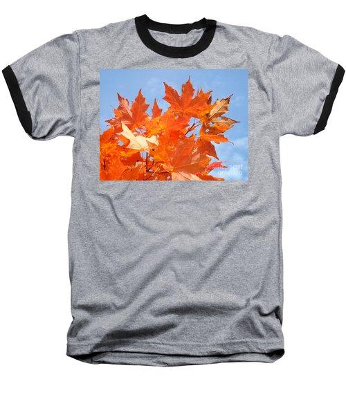 Blazing Maple Baseball T-Shirt