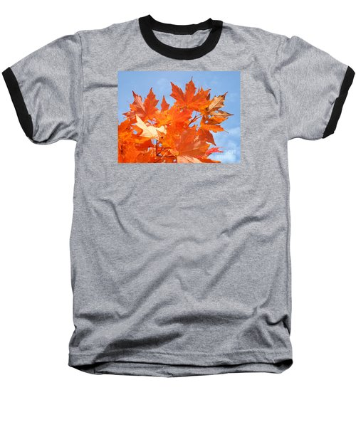 Blazing Maple Baseball T-Shirt
