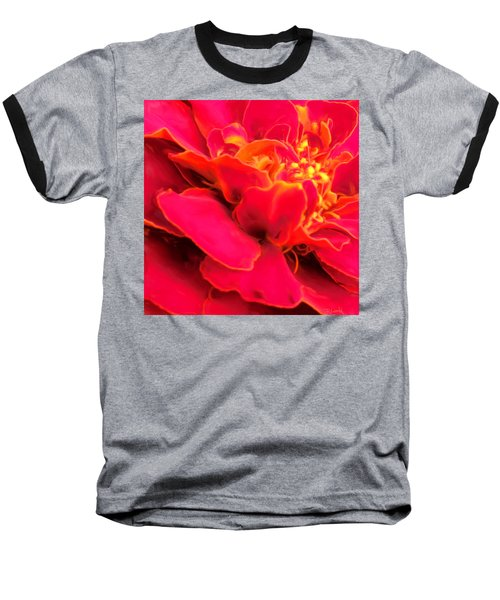 Blazing Pink Marigold Baseball T-Shirt