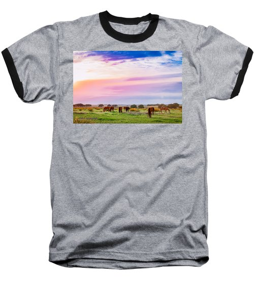 Blazing Sky Diner Baseball T-Shirt