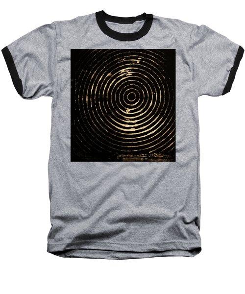 Bleached Circles Baseball T-Shirt by Cynthia Powell