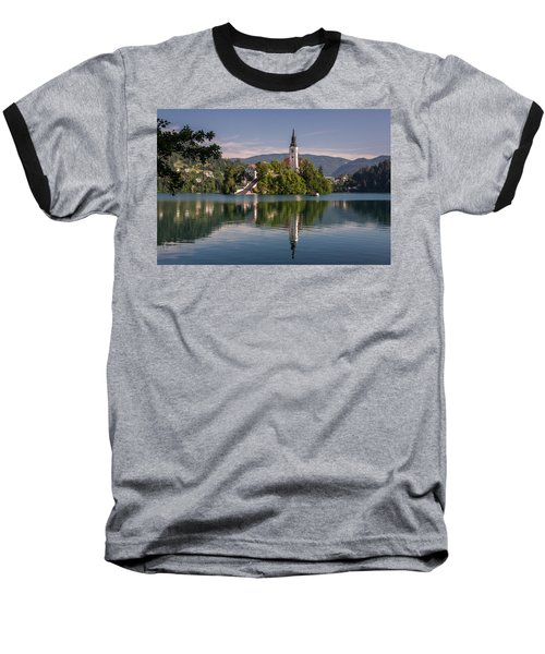 Baseball T-Shirt featuring the photograph Bled by Davorin Mance