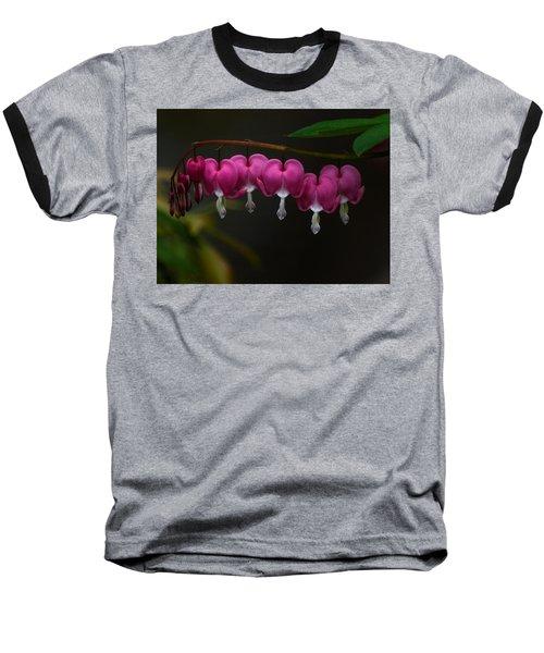 Bleeding Hearts Baseball T-Shirt by Keith Boone