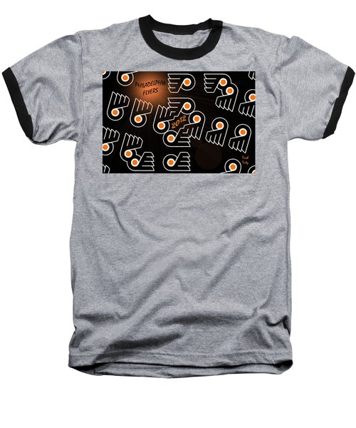 Bleeding Orange And Black - Flyers Baseball T-Shirt