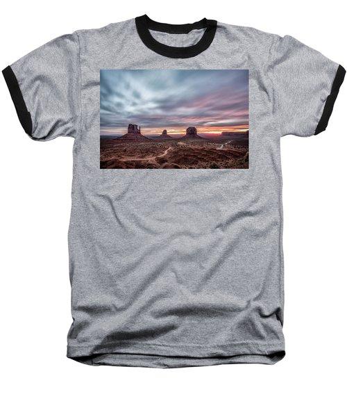 Blended Colors Over The Valley Baseball T-Shirt by Jon Glaser