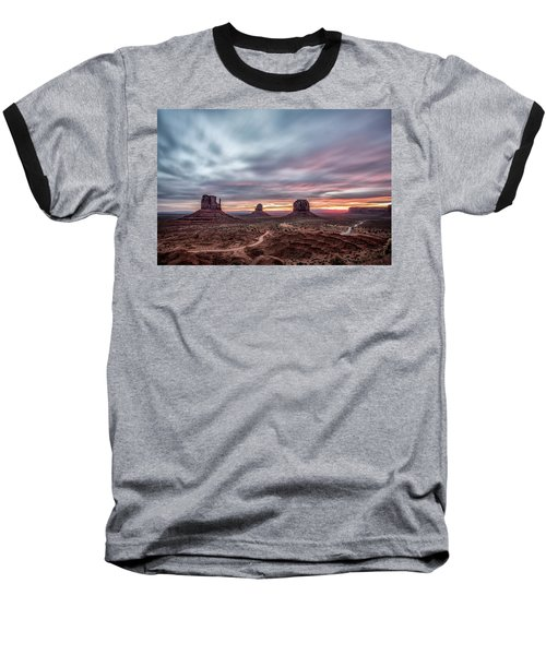 Blended Colors Over The Valley Baseball T-Shirt