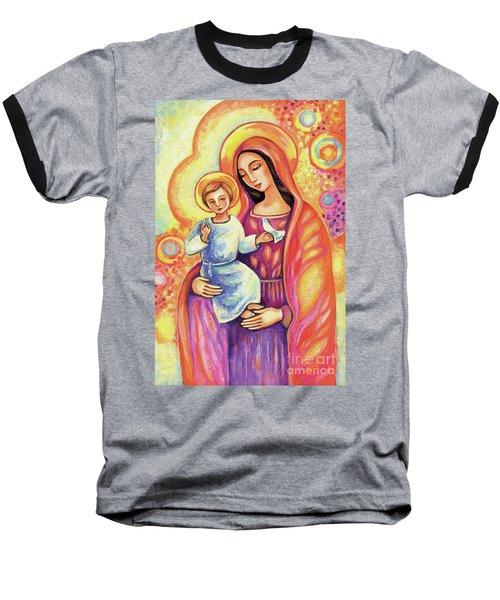 Blessing Of The Light Baseball T-Shirt by Eva Campbell