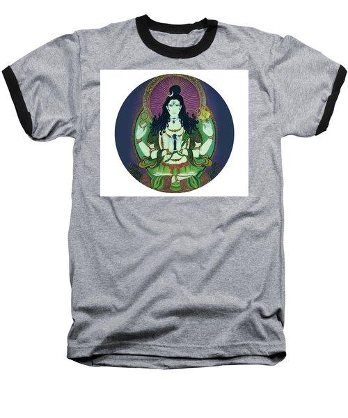 Baseball T-Shirt featuring the painting Blessing Shiva by Guruji Aruneshvar Paris Art Curator Katrin Suter