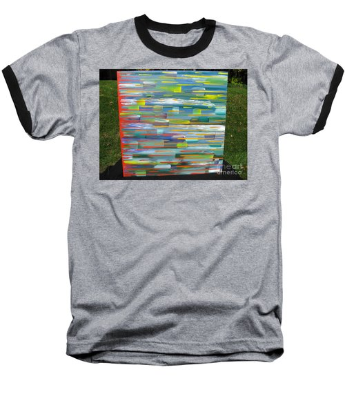 Baseball T-Shirt featuring the painting Blindsided by Jacqueline Athmann