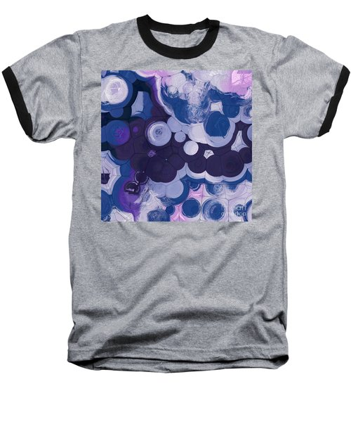 Baseball T-Shirt featuring the digital art Blobs - 11c2b by Variance Collections