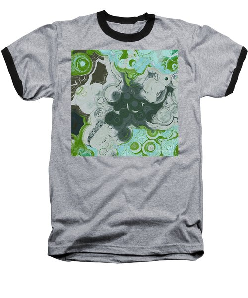 Baseball T-Shirt featuring the digital art Blobs - 13c9b by Variance Collections