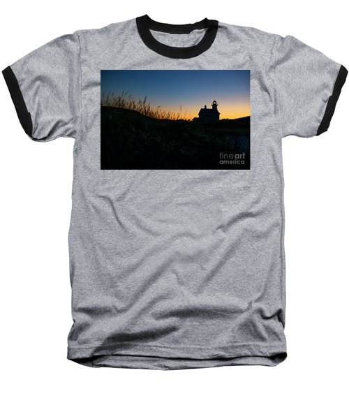 Block Island North Light Baseball T-Shirt