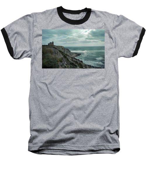 Block Island South East Lighthouse Baseball T-Shirt by Skip Willits