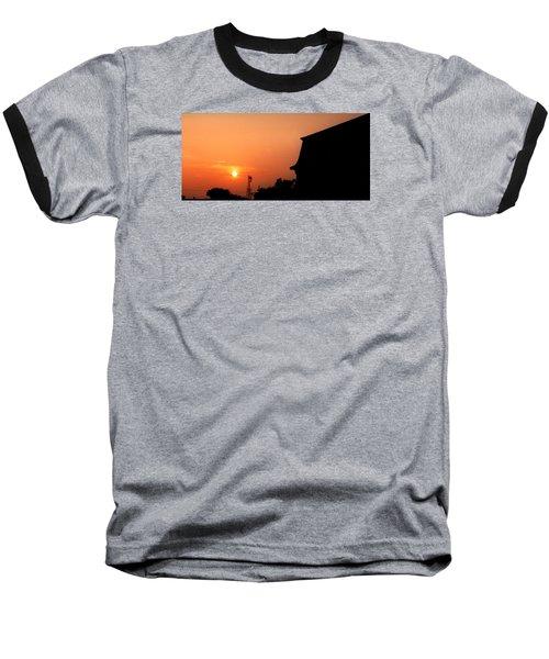 Block Island Sunset Baseball T-Shirt