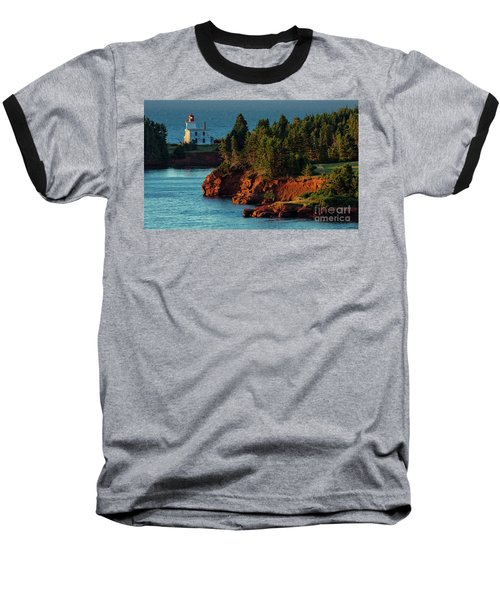 Blockhouse Point Lighthouse Baseball T-Shirt