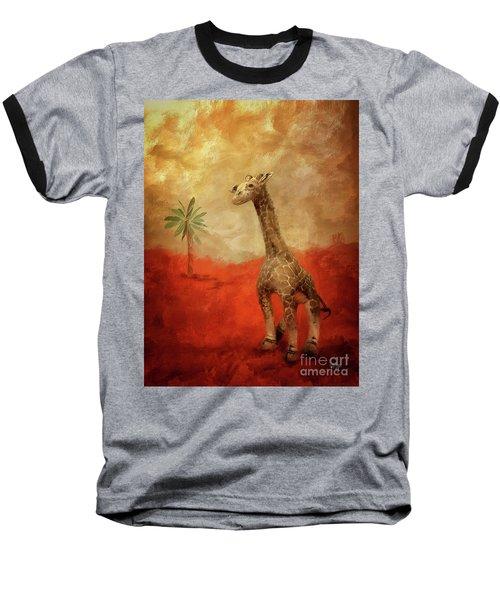 Baseball T-Shirt featuring the digital art Block's Great Adventure by Lois Bryan