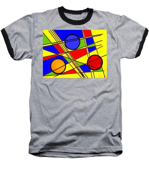 Blocks Of Color Baseball T-Shirt by Trena Mara