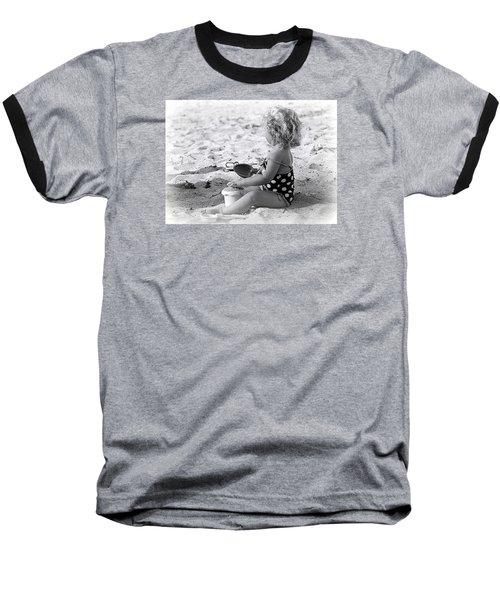 Blond Beach Baby Baseball T-Shirt by Lori Seaman