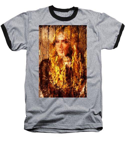 Blond Wood Inlay Baseball T-Shirt