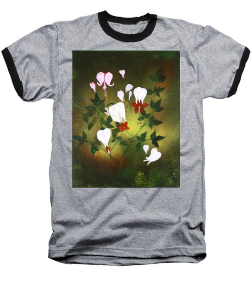 Blood Flower Baseball T-Shirt by Tbone Oliver