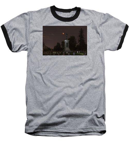 Blood Moon At The Colorado Volunteers Memorial Baseball T-Shirt