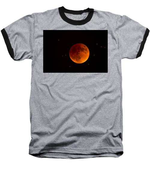 Blood Moon Lunar Eclipse 2015 Baseball T-Shirt by Saija  Lehtonen